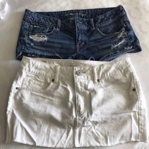 Bundle American Eagle short/mini Skirt Size 6